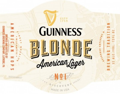 Guinness Blonde American Lager - американская новинка от Guinness