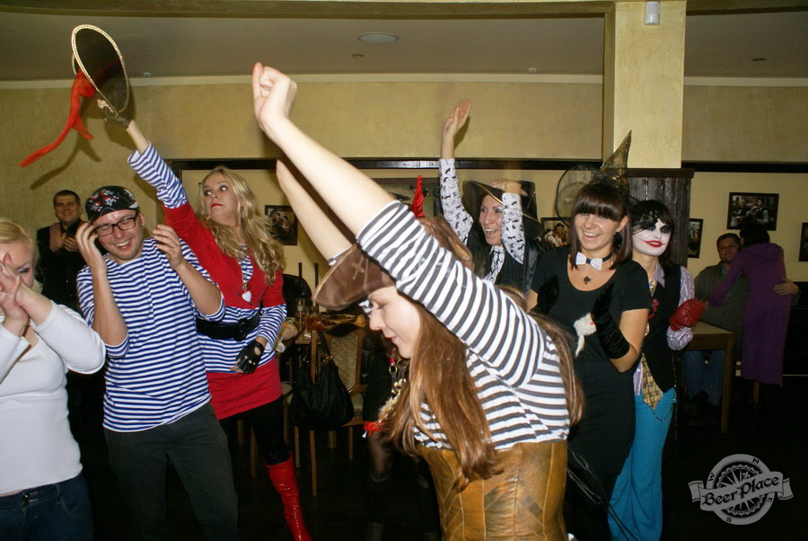 Halloween | Хэллоуин 2011. Паб Рыжая Корова. Трио Йо-хо-хо