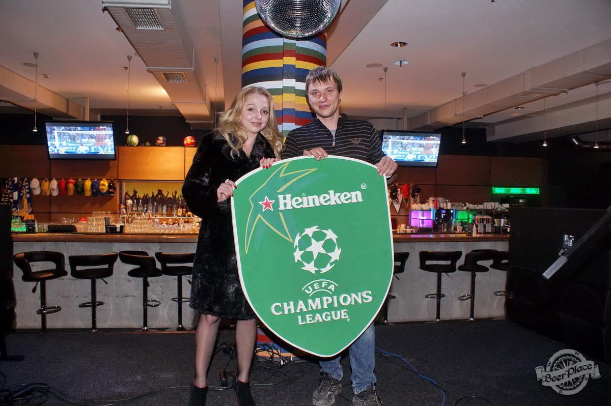 Розыгрыш билетов на Лигу Чемпионов от Heineken в пабе Олимпийский