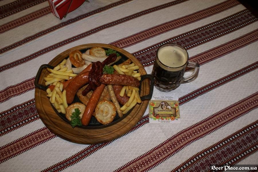 Паб-ресторан Картина Маслом. Киев. Обзор. Фото. Ассорти колбасок