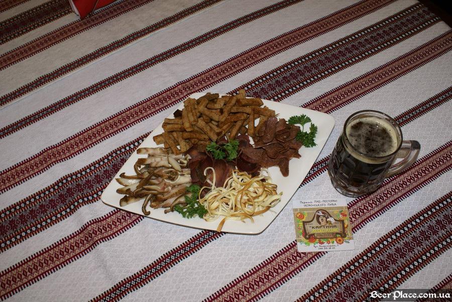 Паб-ресторан Картина Маслом. Киев. Обзор. Фото. Мясное плато
