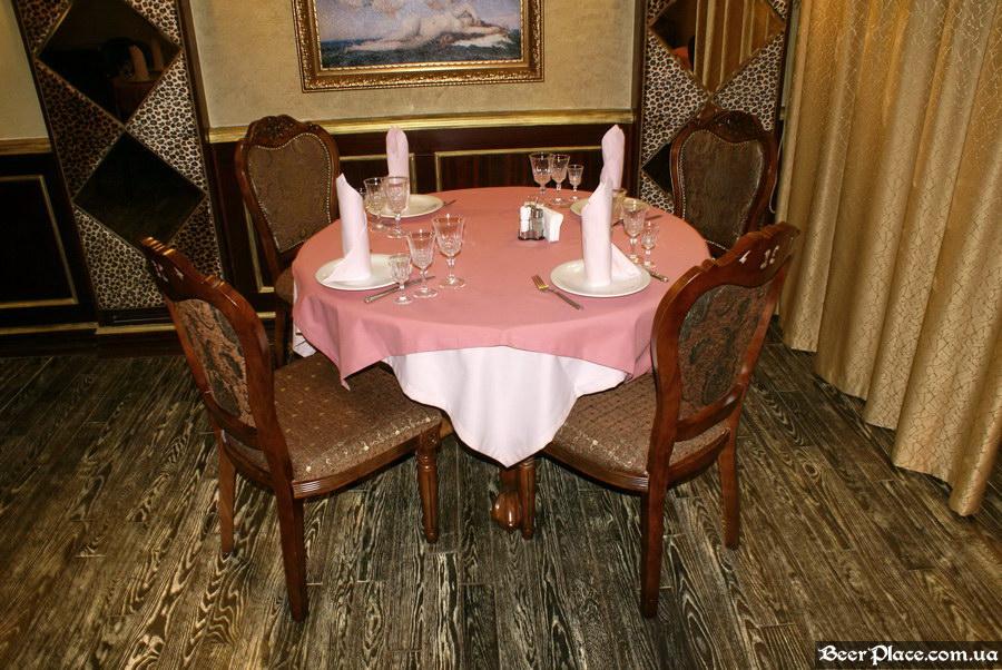 Паб-ресторан Картина Маслом. Киев. Обзор. Фото. Первый зал. Столы