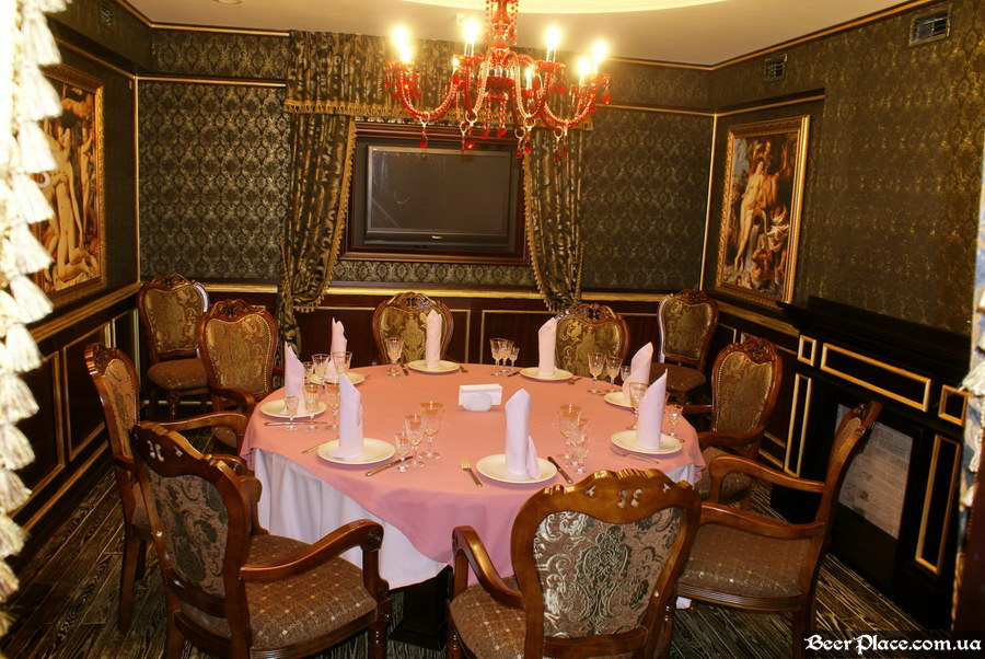 Паб-ресторан Картина Маслом. Киев. Обзор. Фото. Первый зал. Банкетный зал