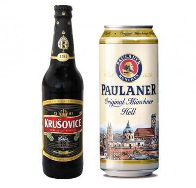 Акция на Paulaner и Krusovice в супермаркетах Велика кишеня