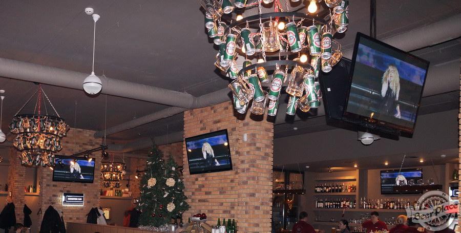 Обзор паба-ресторана Короли Колбас и Пива. Плазмы в первом зале