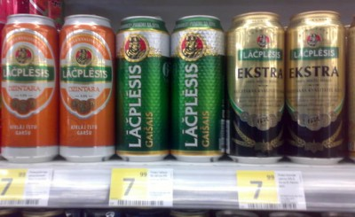 Акция на пиво Lāčplēsis в супермаркетах Велика кишеня