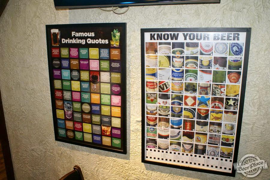 Обзор Лаки Паб | Lucky Pub. Фото. Второй зал. Интересные плакаты