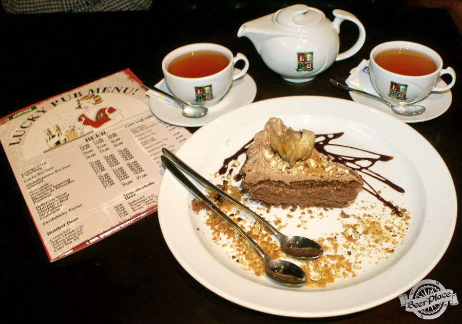 Обзор Лаки Паб | Lucky Pub. Фото. Шоколадно-ореховый торт