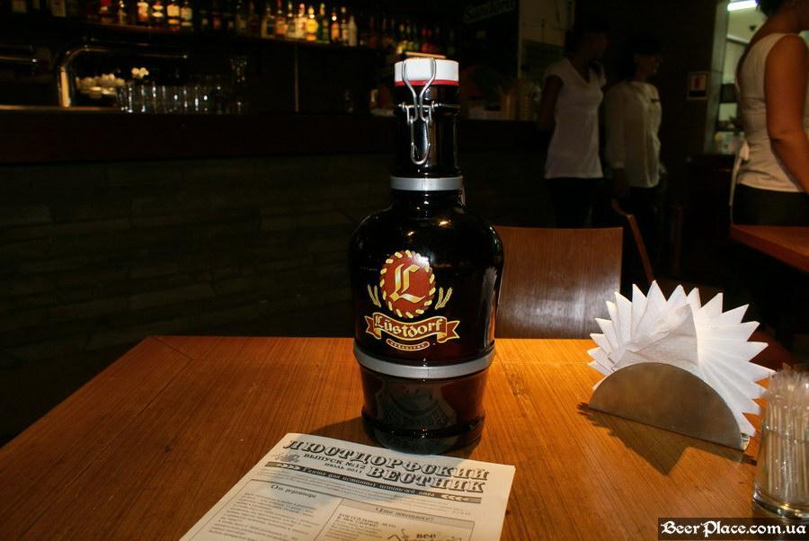 Люстдорф. Ресторан-пивоварня в Одессе. Фото. Фирменный кувшин