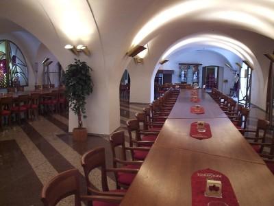 Дегустационный зал на заводе Крушовице