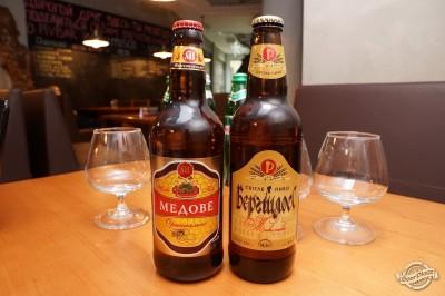 Дегустация пива Микулинецьке Медове и Бергшлосс Светлое в чураско баре ПивБар