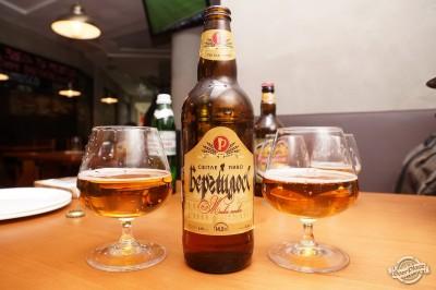 Дегустация пива Бергшлосс Светлое в чураско баре ПивБар