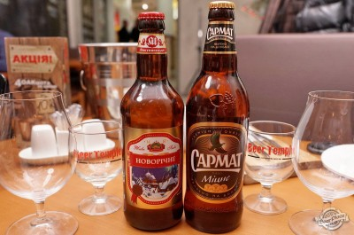 Дегустация пива Микулин Новорічне и Сармат Міцне
