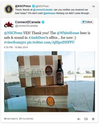 Обама проспорил два ящика пива