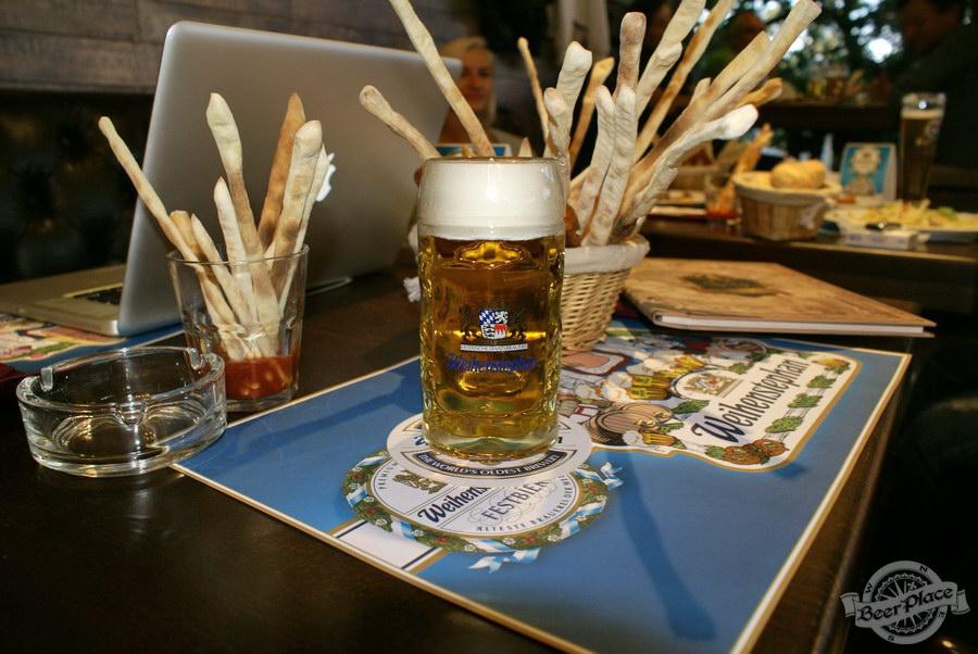 Pinta Cerveza открытие Oktoberfest 2011. Weihenstephaner FestBier