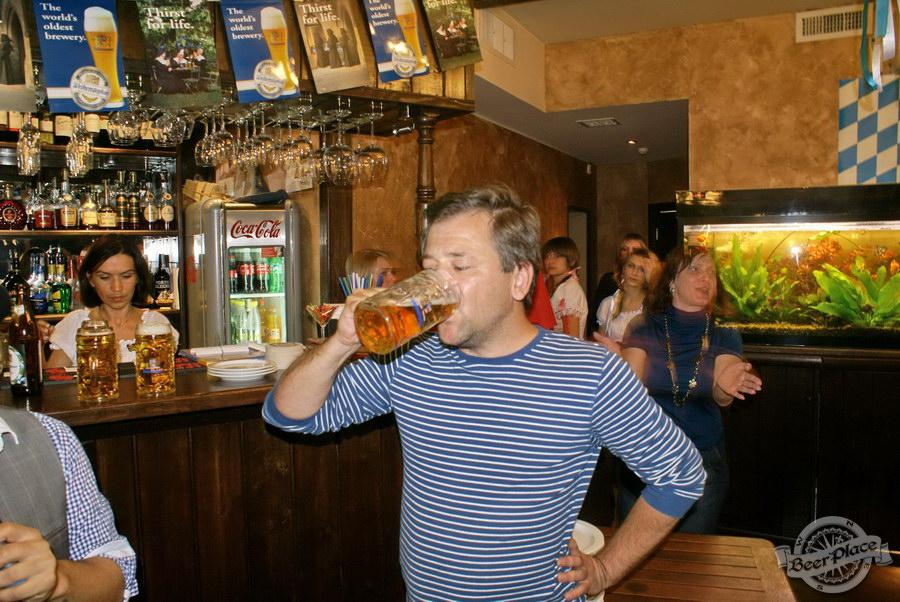 Pinta Cerveza открытие Oktoberfest 2011. Пьем пиво на скорость