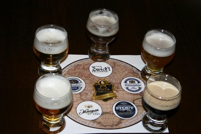 Пивной сет в Pinta Cerveza