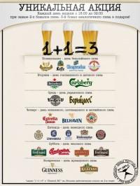 Блюдо недели и акции на пиво в сети Пивная №1