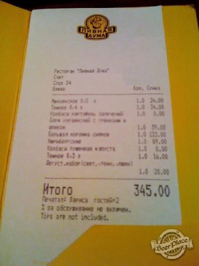 Краш-тест ресторана-пивоварни Пивная Дума