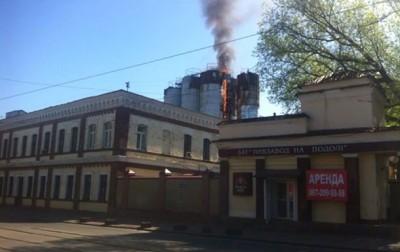 В Киеве горел киевский Пивзавод на Подоле