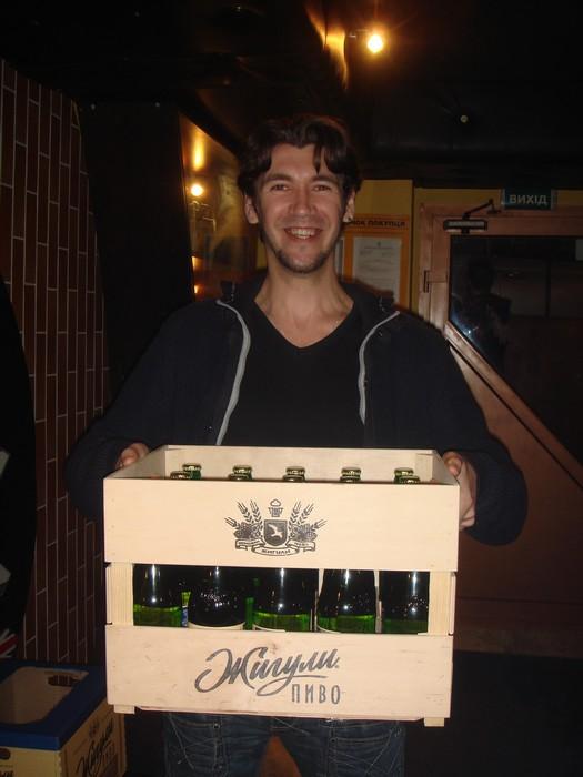 Розыгрыш ящика пива Жигули Барное