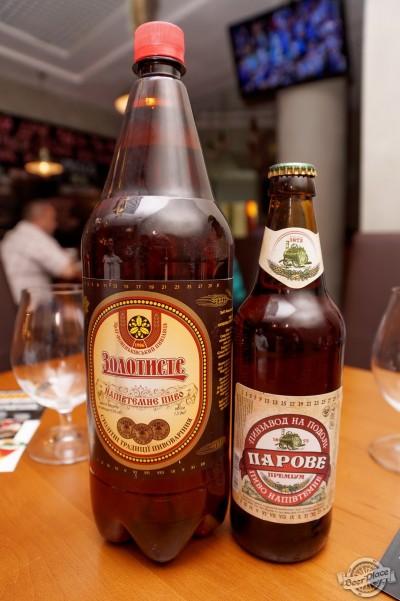 Дегустация пива Ровеньківське Золотисте и Парове напівтемне в PivBar