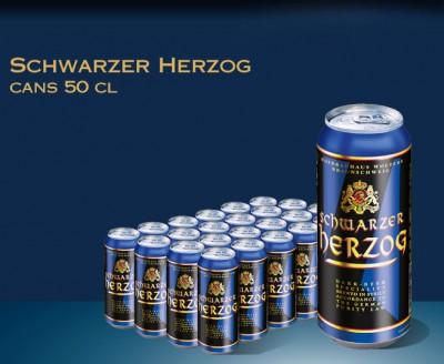 Акция на пиво Schwarzer Herzog в Мега Маркетах