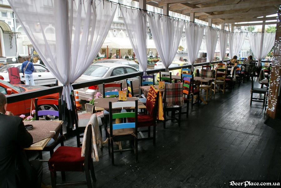 Обзор Sepia Pub | Сепия паб. Киев. Фотографии. Летняя площадка