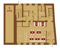 Соломенская пивоварня на Подоле. Схема 1-го этажа