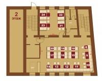 Соломенская пивоварня на Подоле. Схема 2-го этажа