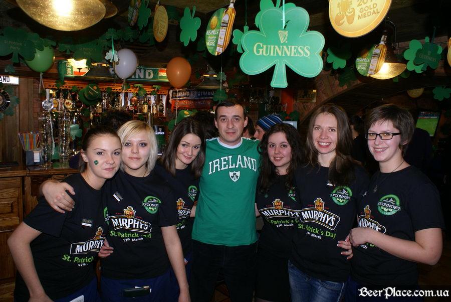День святого Патрика 2011: паб O'CONNOR'S. Персонал