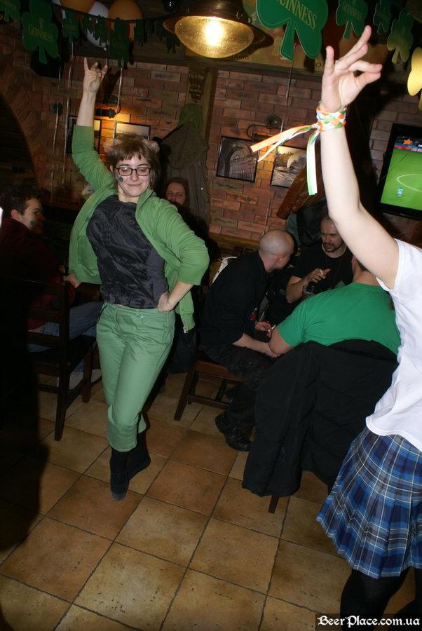 День святого Патрика 2011: паб O'CONNOR'S. Ирландские танцы