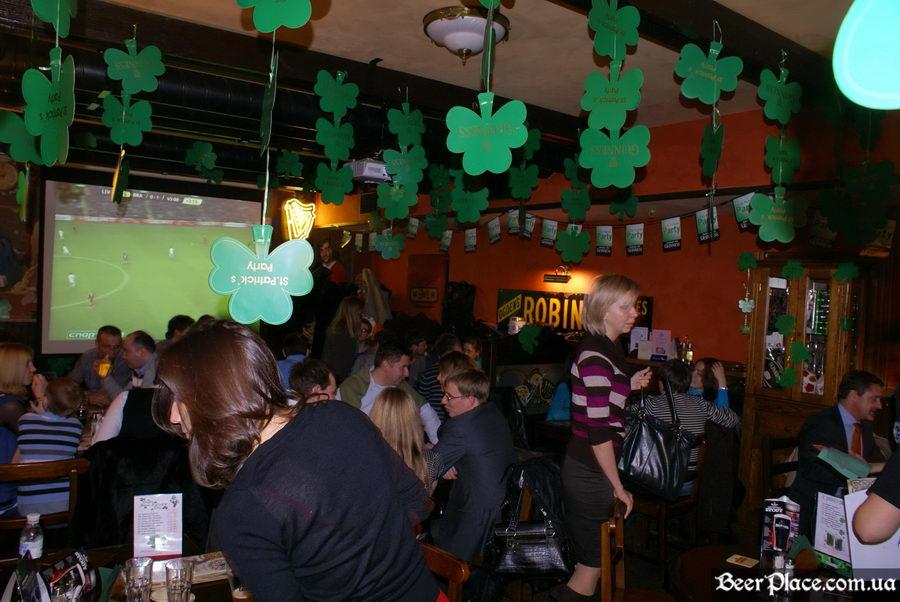 День святого Патрика 2011: ирландский паб O'BRIEN'S. Смотрим футбол в O'BRIEN'S