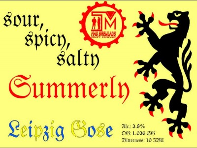 Summerly Gose - новинка от Mad Brewlads