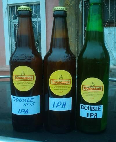 Три сорта IPA в Одессе