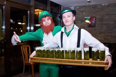Зеленое пиво в одесском Люстдорфе