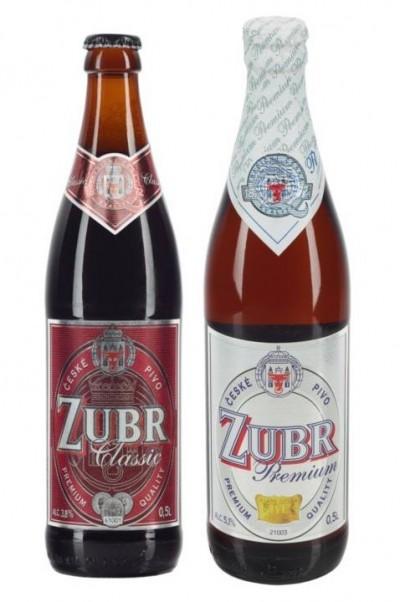 Чешское пиво Zubr в Украине