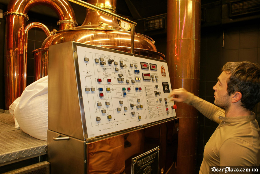 Как варят пиво в Arena BeerHouse. Пульт управления