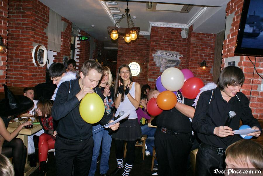 Хеллоуин 2010 в АУТ ПАБе. Фото. Геливые Гагарины
