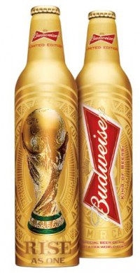 Budweiser выпустил бутылку в честь Чемпионата мира 2014
