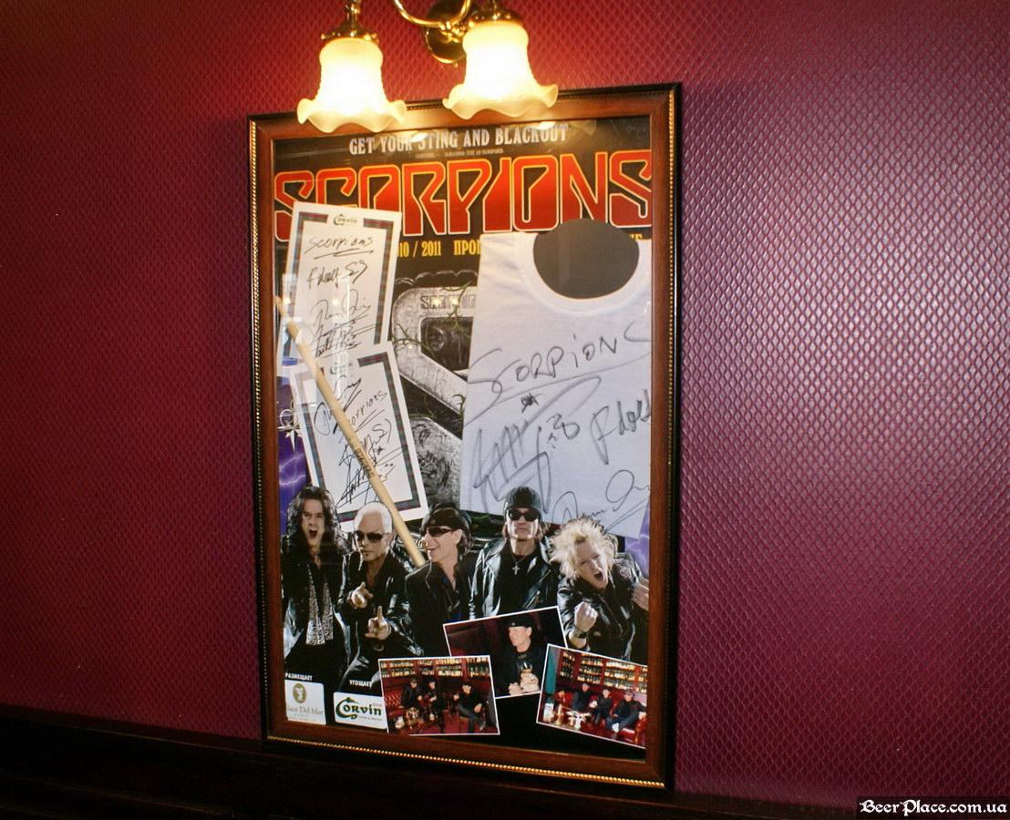 Паб виски-клуб Корвин | Corvin. Фото. Scorpions в Corvin