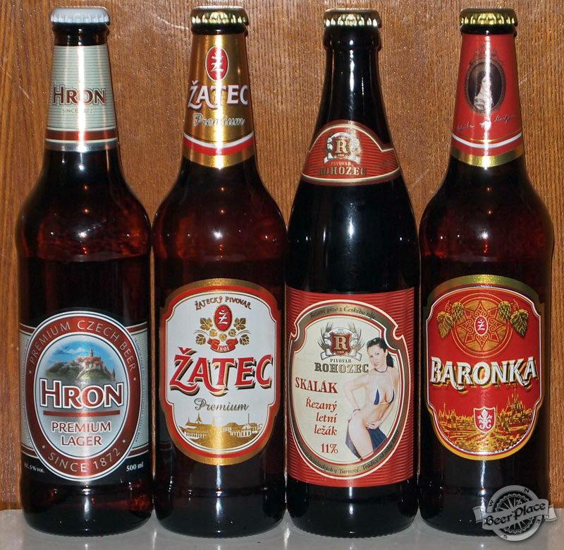 Дегустация чешского пива: Hron Premium Lager, Žatec Premium, Skalák Řezaný Letní Ležák и Baronka