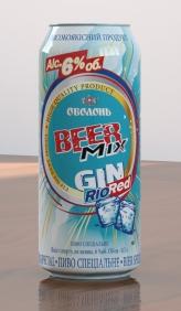 BeerMix Gin Rio Red - новый бирмикс от Оболони