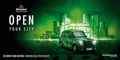 Heineken будет развозить британцев на такси из баров по домам