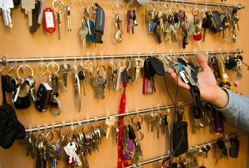 Связки ключей, которые были найдены после Октоберфеста 2011