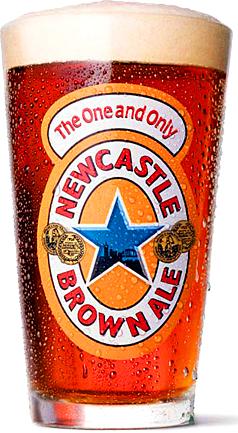 Фирменный бокал с Newcastle ale