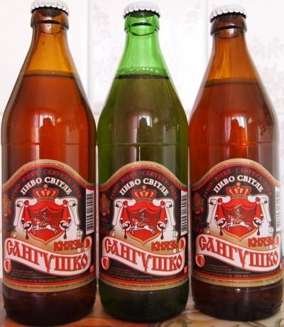 Пиво Князь Сангушко. Славута