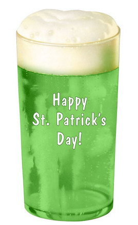 Зелёное пиво в честь Дня святого Патрика