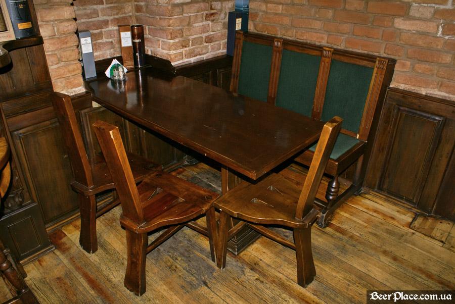 Днепропетровск. Ирландский паб Шамрок. Первый столик второго зала