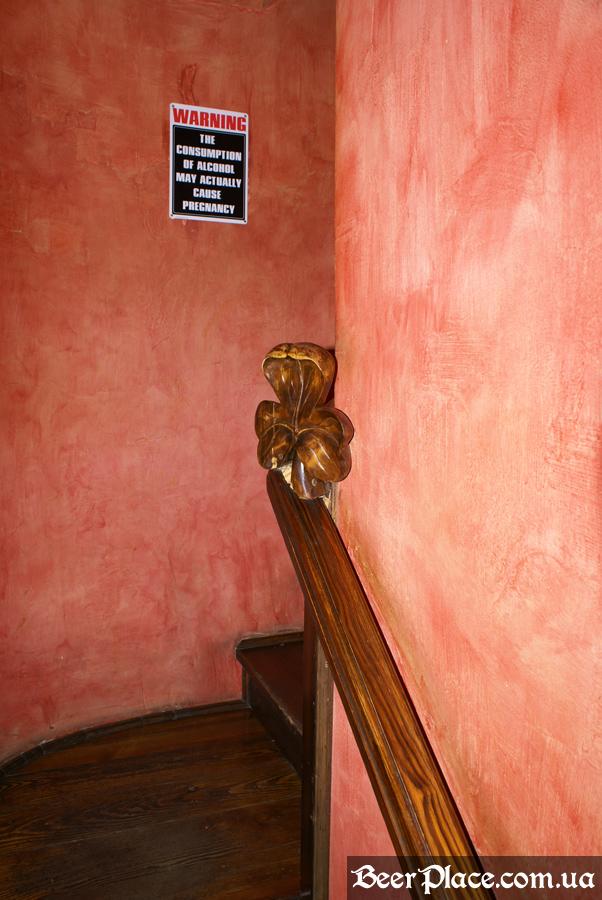 Днепропетровск. Ирландский паб Шамрок. Клевер на лестнице